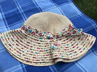 59675c42a MONSOON GIRLS SUMMER Floral Straw Sun Hat age 6-13 Years - £5.99 ...