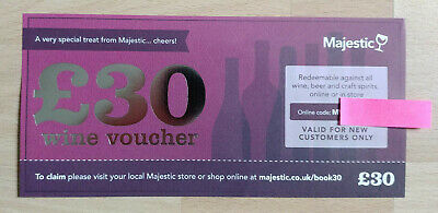 £30 Majestic Wine Beer & Spirits Voucher