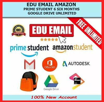 NEW Edu Email 6Months Amazon Prime Unlimited  Storage US Student Mail ✅