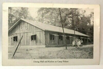 Vintage Postcard Harrison Lake Ohio 4-H Fulton County Dining Hall And Kitchen