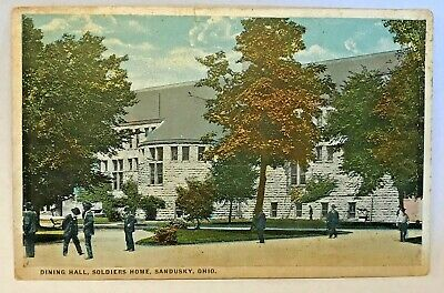 Vintage Postcard Sandusky Ohio c.1915-1930  Dining Hall Soldiers Home