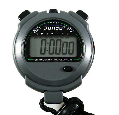 JUNSD Digital Stopwatch 505 - Water Resistant Big LCD Panel and Daily Alarm