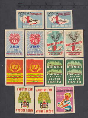 Old Czechoslovakian /Slovakian/ Matchbox Labels after 1945 16.