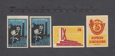 Old Czechoslovakian Matchbox Labels  12. /1949/