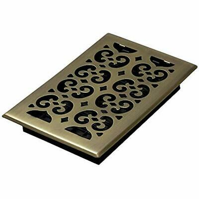 SPH610-A Scroll Floor Register, 6-Inch By 10-Inch, Antique Brass Home