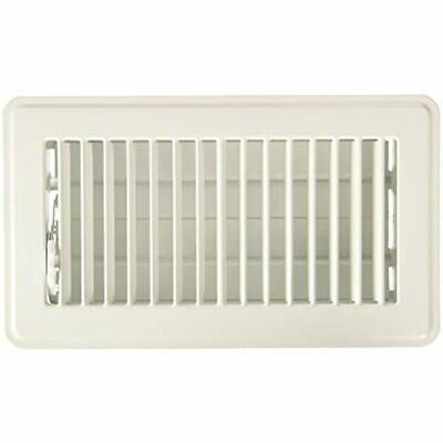 Manufacturing RG3296 Louvered Design Floor Register, 4 H X 8 W, Steel, White -