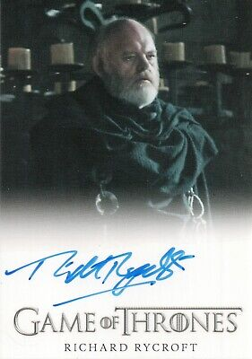 Game of Thrones Inflexions, Richard Rycroft 'Maester Wolkan' Autograph Card