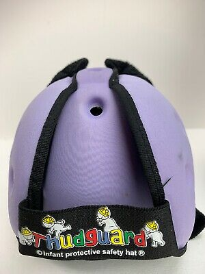 Thudguard Infant Protective Safety Hat Purple Baby Head Protection EUC