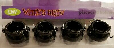 Halloween Spooky WITCH'S CAULDRON PlaceCard or BUFFET Food Markers MINT RETIRED