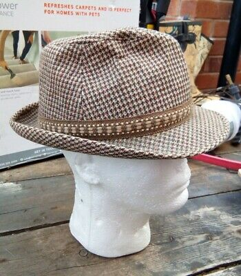 Vintage Dunn & Co - Mens -  Wool Trilby Hat 6 7/8   56