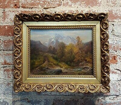 A. Waugen -19th century beautiful Swiss Landscape-oil painting