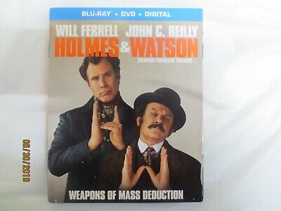 Holmes And Watson Blu-Ray & DVD w Slipcover Canada Bilingual NEW!!! SEALED