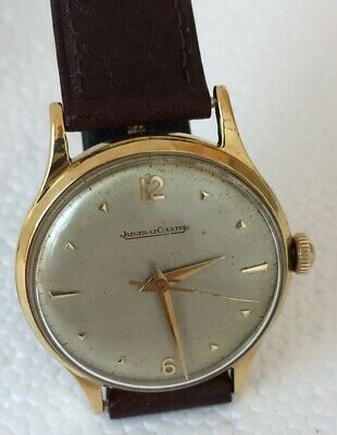 18K Gold Jaeger Le Coultre P800/C Sweep Sec Screw Back Wristwatch BIN$1100