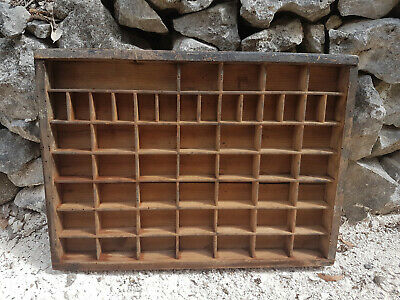 Vintage Wood Printers French Letterpress Tray Collectables Display Shelf Drawer