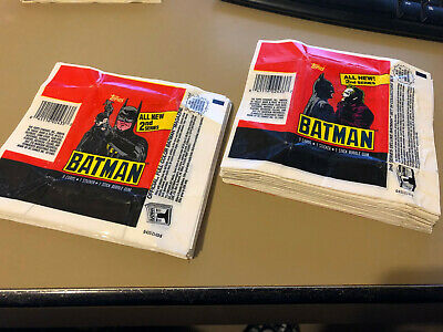 Batman Movie Series 2  - 10x Wax Pack Card Wrappers - 1989 Topps - NO TEARS !