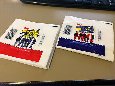New Kids on the Block NKOTB - 10x Wax Pack Card Wrappers - 1989 - No Tears !!!