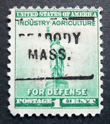 Scott # 899 ~ 1 cent statue of Liberty, Precancel, PEABODY MASS.