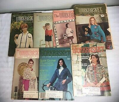 Lot of 7 Vintage The Workbasket and Home Arts Magazine 1965 - 1978