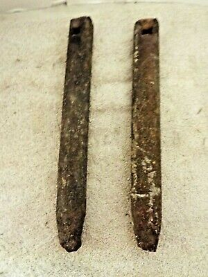 "Antique Vintage Cast Iron Window Sash Weights Reclaimed 5.4lb 13"" Architectural"