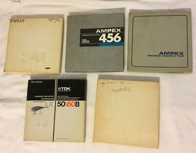 Lot Of 5 Reel To Reel Tapes Ampex, TDK Used