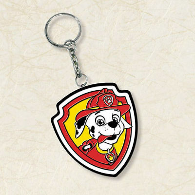 Paw Patrol Marshall Keychain Rubber Ring Key Nickelodeon NEW