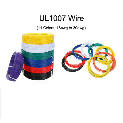 Stranded UL1007 Cable PVC Electric Equipment Wire 16/18/20/22awg-30awg 80°C 300V