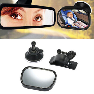 JQ_ KF_ Car Back Seat Safety Baby Rearview Curved Mirror Adjustable Kids Sucke