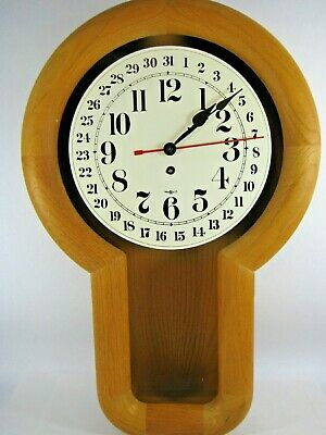 VTG HOWARD MILLER EIGHT DAY WIND PENDULUM WALL CLOCK OPEN-FACE 622-238 AsIsVideo