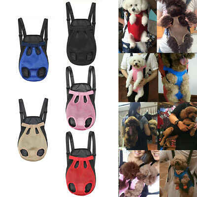 JQ_ Pet Carrier Backpack Adjustable Front Cat Dog Legs Tail Out Chest Travel B
