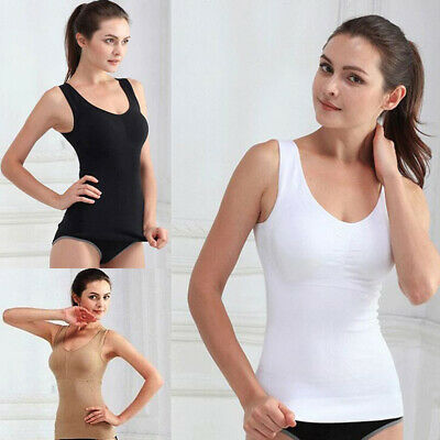 Women's Slim Tank Top Tummy Control Seamless Camisole Body Shaper Shapewear Vest