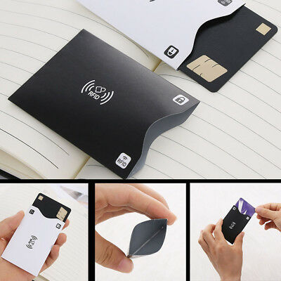 JQ_ 5Pcs Anti-Scan RFID Blocking Credit ID Card Anti-Magnetic Holder Sleeve Gr