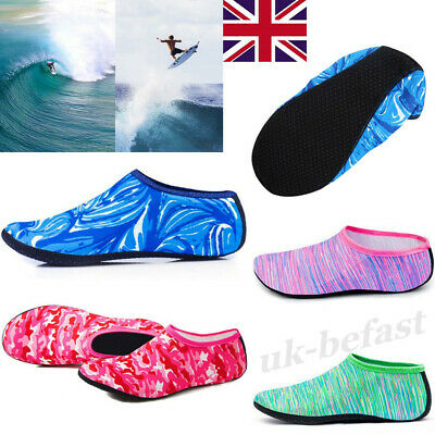 Men Women Kids Beach Water Shoes Socks Anti Slip Surfing Diving Swimming Sea UK