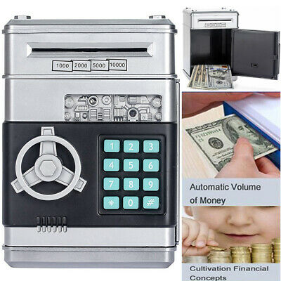 Kids Electronic Coin Note Money Counting ATM Box Saving Safe Digital Piggy Bank