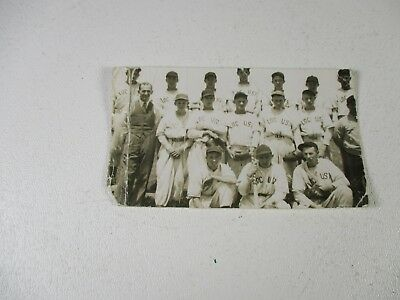 Antique-vintage baseball team photo with names on back-