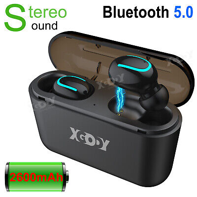 2600Mah TWS Wireless Headphones Mini True bluetooth 5.0 Earphones In-Ear Headset