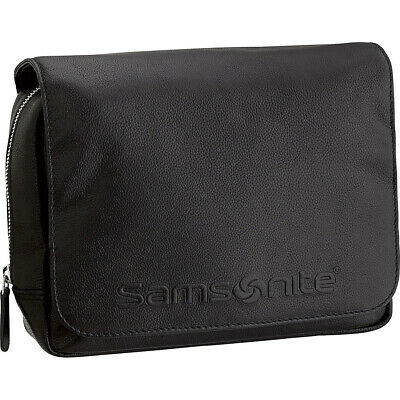 Samsonite- Leather Travel Accessories Hanging Travel Toiletry Kit NEW