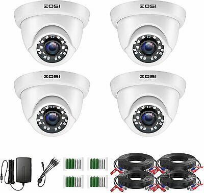 ZOSI 4x 1080P 4in1 Security Camera CCTV Video Home 2.0MP Outdoor IR Night Vision
