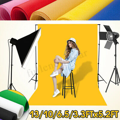 5x3FT - 5x13FT Solid Color Studio Prop Photography Backdrop Photo