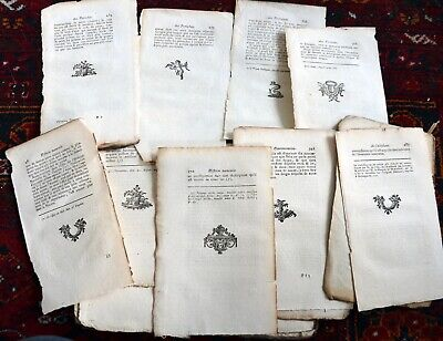 600+ Vintage Antique French Book Pages 1787 Scrapbooking Paper Craft