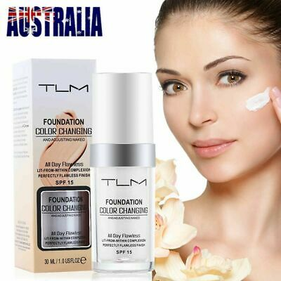 TLM Flawless Color Changing Foundation Makeup Base Face Liquid Magic Flawless Dt