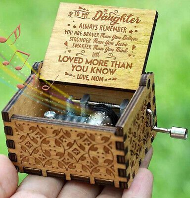 Engraved Wooden Music Storage Box For Daughter Loved More Than You Know Gift V
