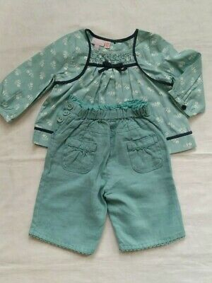 Baby Girl Monsoon green 2 Piece Outfit 6-12 Months