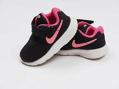 742f171064b5d GIRLS INFANT NIKE Trainers White Pink Blue Hook & Loop Fasten Size ...