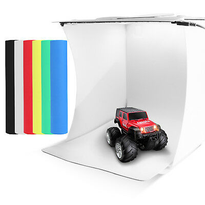 Double LED Light Room Photo Studio Photography Lighting Tent Backdrop Box IB