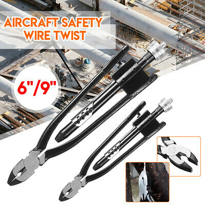 """6"""" / 9"""" Lock Wire Twisting Twister Safety Pliers Set for Locking Nuts Safety Tie"""