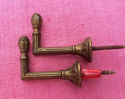 Vintage French Bronze Curtain Tie Back Holder Hooks For Tassels 5 Cms Long