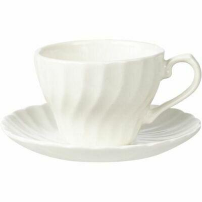 Churchill China Chelsea White Teacup and Saucer 0.24L (Set of 6)