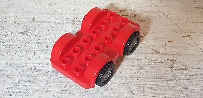 LEGO red vehicle chassis bases with wheels for city car van * PACK OF 3