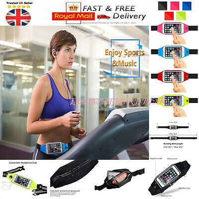 Unisex Sports Bum Bag Running Belt Waist Fanny Pack Travel Zip Pouch UK