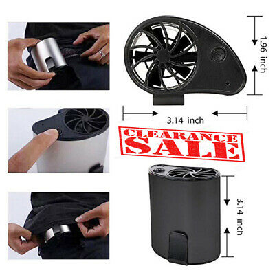 Wearable Waist Cooling Fan USB Rechargeable Portable Mini Outdoor New